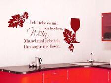 Tatuaggio Parete Cucina Frase adoro con vino a cucinare sala da pranzo proverbi Decorazione