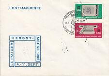 DDR FDC Ersttagsbrief 1966 Mi.1204+5 Sonderstempel Rennreifen Waltershausen