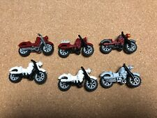 Lego motorcycle Lot of 6 Harley Davidson motorcycles minifig accessories C508B
