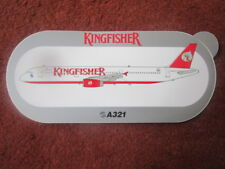 AUTOCOLLANT STICKER AUFKLEBER AIRBUS A321 KINGFISHER AIRLINES INDIA INDE