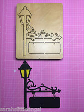 WOODEN DIE CUTTER-STREET SIGN, Use in Sizzix Big Shot, VERY RARE!!!
