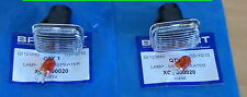 MG Rover F MGF Pair White Clear Smoked Side Indicator Repeater Light Lamp Lights