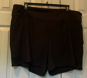 Women's black Old Navy active stretch pull on shorts size XXL New