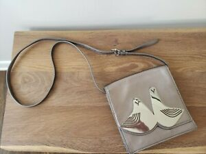 Jonathan Adler metallic Vera dove crossbody bag