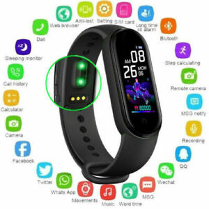 Smart Watch M5 Fitness Tracker Blood Pressure Heart Rate Men Women Sport Watches
