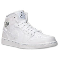 Nike Air Jordan 1 Mid og white i banned royal 554724-120 retro xi iv gold new 12
