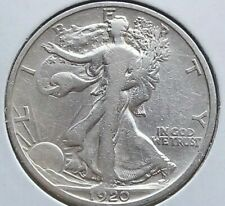 1920 D Walking Liberty Half dollar, 50 Cents silver coin