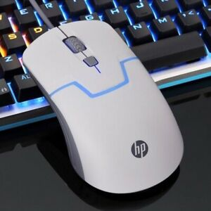 HP M100 Computer Controller Seven-color Led Illuminated Gaming Mouse white