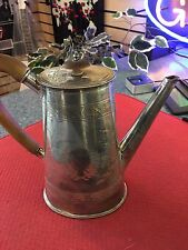 "Ant. 1800's Elkington & Co Large Silver Plate Repouse 8"" pitcher"