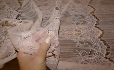 50cm x 138cm - 'PRETTY PALE PINK' Floral Lace' Fabric, Sewing Material