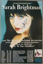 Sarah Brightman Signed Poster from Edinburgh Playhouse, 1997