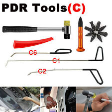 Car Paintless Dent Repair Removal Auto Body Rod Tools Pen Heads PDR Tools(C) Kit