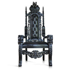 178cm BLACK Gothic Lion King Throne Chair for prop movie showhouse club & hotels