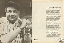 1984 Multimate International Word Processor 2 Page Print Ad with Babe Ruth