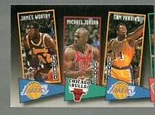 1992-93 SkyBox School Ties #ST16 James Worthy / Michael Jordan / Sam Perkins