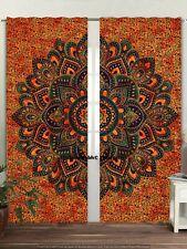 Indian Window Valances Cotton Curtains Sets Hippie Door Curtains Throw 2 Panel