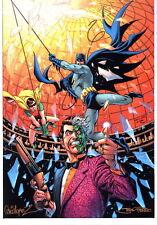Jose Luis Garcia Lopez & Joe Prado SIGNED Batman Robin Two Face Comic Art Print