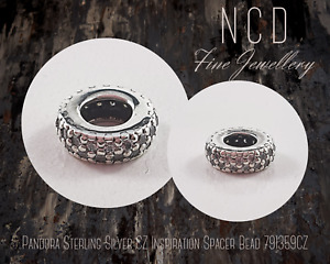 NC Designs Authentic Pandora Sterling Silver Clear Sparkle Spacer Bead 791359CZ