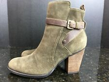 Ivanka Trump Folli Ankle Boots Womens Sz 9M Green Suede Size Zip  Shoes #5
