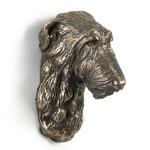 Deerhound, dog statuette to hang on the wall, UK