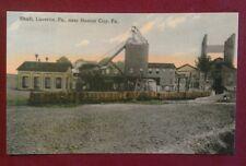 Old Lucerne PA. Coal Mine Shaft Rail Cars & Tipple Near Homer City Postcard Repo