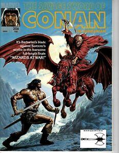 Savage Sword of Conan magazine #206 February 1993 Very Fine cond