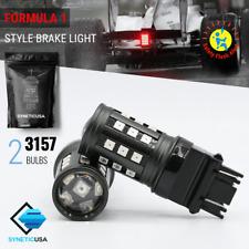 2x 3157/5702AK 30-LED Red Flash Strobe Blinker Tail Brake Stop Rear Light Bulbs