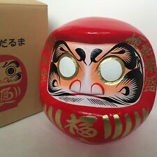 "Japanese 17.25""H Red Daruma Doll Wish Making Good Business Success Made in Japan"