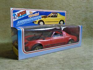 OPEL AERO GT NIB KIBI BASILIADIS Red Plastic Made in Greece Greek Friction 80s