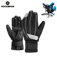 ROCKBROS Winter Full Finger Outdoor Velvet Windproof Cycling Touch Screen Gloves