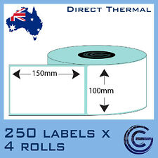 100x150 mm 1000pcs Label for Zebra, TSC, Datamax for Auspost, Startrak Stickers