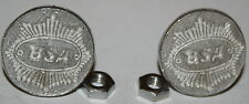 New BSA License Plate Screws With Nuts English Thunderbolt Lightning Fury (178)
