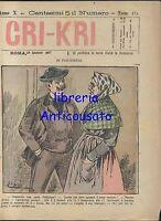 CRI KRI anno XI n.474 - 24 gennaio 1897 giornale umoristico Illustrato fumetto