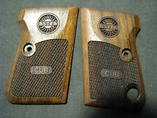 Astra 2000 Cub English Walnut Checkered Pistol Grips w/Astra LOGO & Text NEW!
