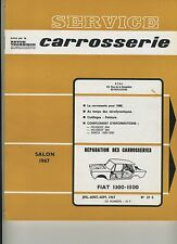 (32B) REVUE TECHNIQUE AUTOMOBILE SERVICE CARROSSERIE FIAT 1300 - 1500