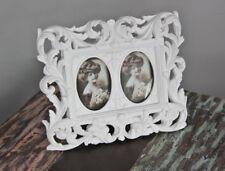 Cadre d'image Jeu de 2 baroque blanc ancien neuf à poser photo Rosali shabby