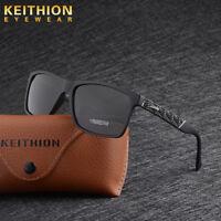 TR90 Frame Square HD Polarized Sunglasses Men Driving Fishing Sports Eyewear