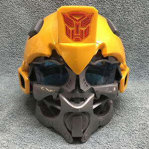 Hasbro Transformers Bumblebee Voice Talking Yellow Mask Helmet Adjustable 2008