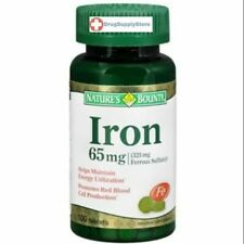 Natures Bounty  Iron 65mg Tablet 100ct