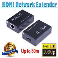 1080P HDMI Network Extender Adapter Over Single Cat6 Cable 30m Transmission