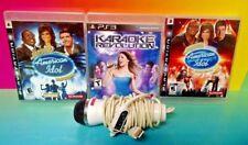 Karaoke Revolution 1 2 American Idol Encore 2 Sony PlayStation 3 Game Lot & Mic