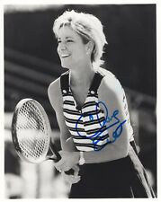 CHRIS EVERT AUTOGRAPHED 8x10 PHOTO+COA          LEGENDARY TENNIS PLAYER