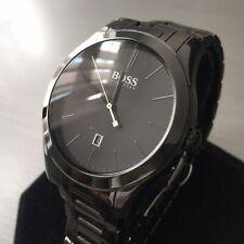 Mens Hugo Boss Designer Watch Black Ceramic AMBASSADOR 1523223 Genuine