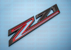 Black Red Z71 Emblem 19-20 Chevrolet Silverado Badge Decal OEM 84632695