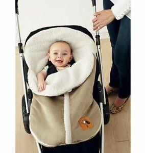 New Tiny Tillia for Avon Tan Fleece Sherpa Lined Stroller Car Seat Cover NIP