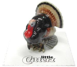 ➸ LITTLE CRITTERZ Bird Miniature Figurine Turkey Gobbler