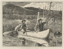Winslow Homer Prints: Trapping in the Adirondacks : Fine Art Print