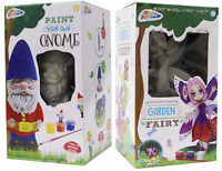 Paint Your Own Garden Gnome & Flower Fairy 20cm Figure Childrens Art & Craft Kit