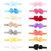 14pcs Mix Color Newborn Baby Chiffon Bowknot Headbands Kids Girl Hair Bow Bands
