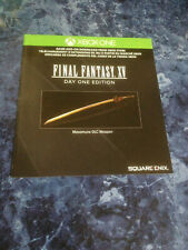 Final Fantasy XV (15) Xbox One Day One DLC Masamune Exclusive Bonus Weapon